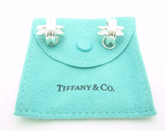 Tiffany & Co. Sterling Silver Signature X Clip On Earrings