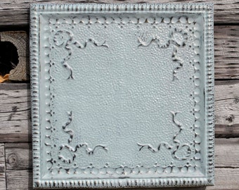 Antique Tin Ceiling Tile Art Wall Decor Magnetic Memo Board Photo holder M196