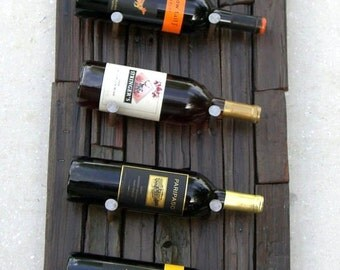 Redwood Wine Rack, Napa Valley Wood Rack, Upcycled Wine Rack, Reclaimed Wood Wine Rack, Rustic Wine Rack