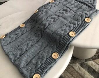 Newborn baby knit sleeping bag