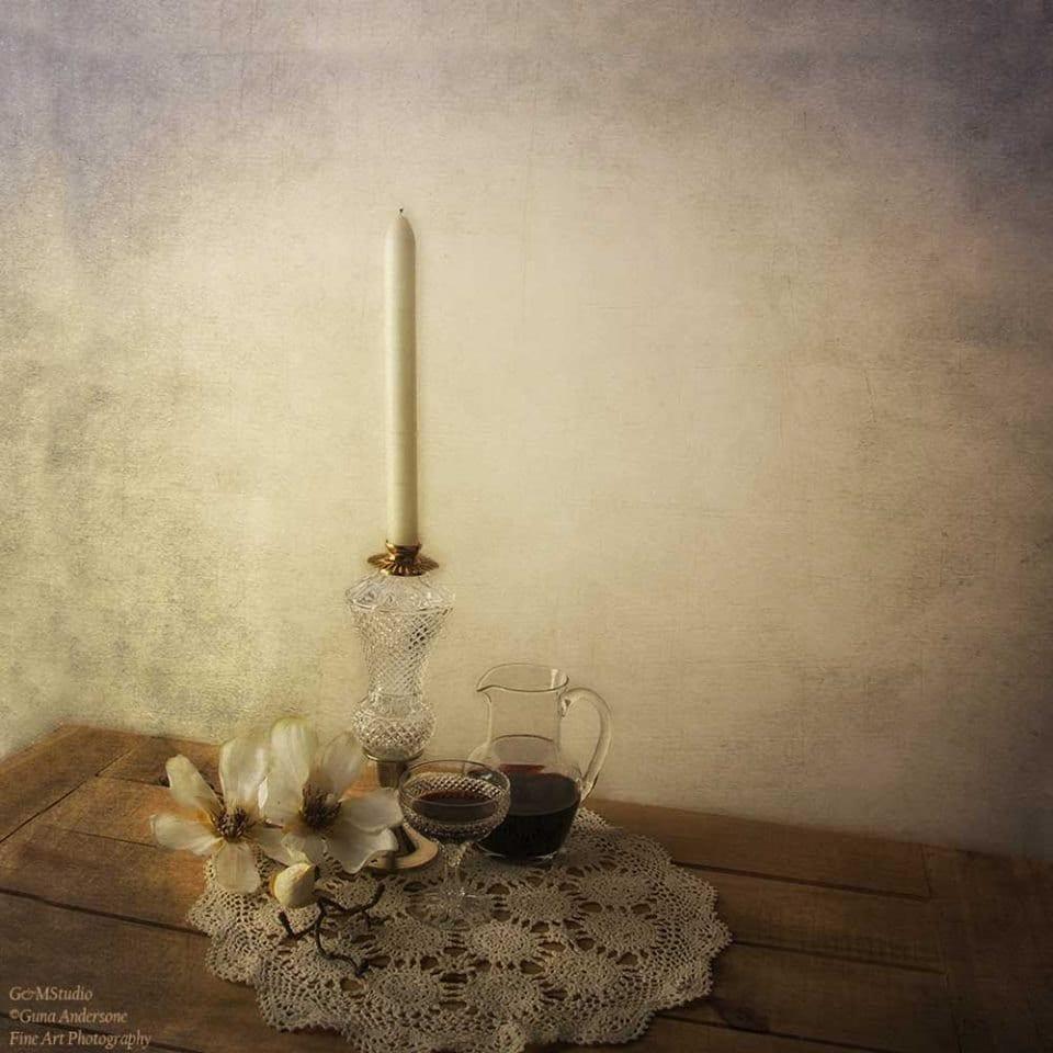 gunadesign guna andersone vintage crystal candlestick