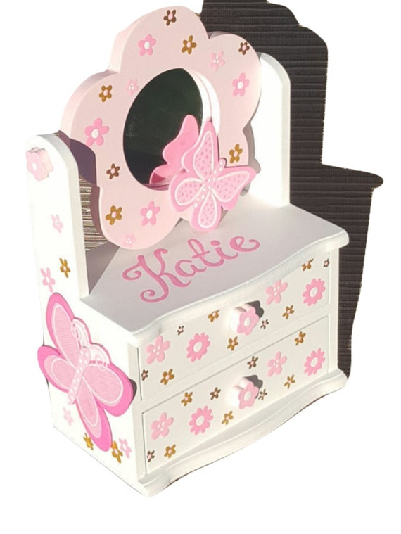 Large 12 tall butterfly jewelry box for girl gift first for Girls large jewelry box
