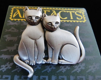 JJ Jonette Cat Pin/Earrings Ensemble