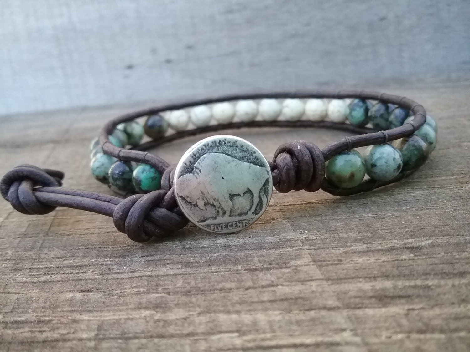 Native American Jewelry Turquoise Bracelet Mens Gift