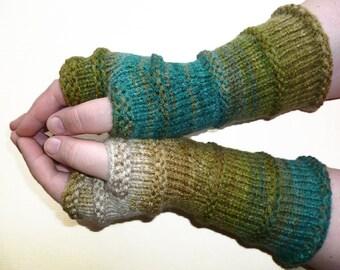 Knit Fingerless gloves | Arm warmers | Womens Fingerless | Long Mittens | Wrist warmers | Mismatched Gloves |