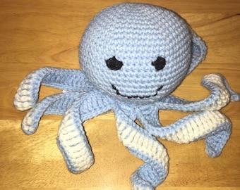 Blue stuffed Octopus