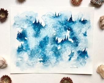 Blue Dream - Original Watercolor Painting