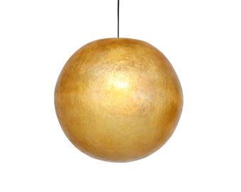 Beige ball lamp