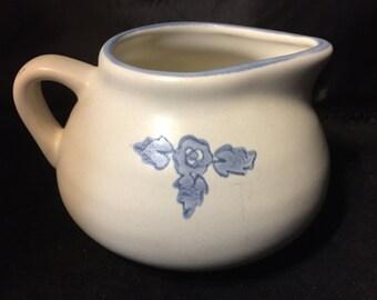 E038  Pfaltzgraff small pitcher blue