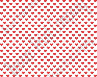 White with red small heart craft  vinyl sheet - HTV or Adhesive Vinyl -  Valentine's Day HTV3951