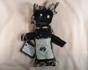 Sulth, Voodoo Spell Doll, Handmade Voodoo Doll, Juju Doll, Dark Arts Voodoo Doll, Altar Doll, Ritual Doll, Stuffed Art Doll