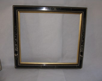 Antique/vintage black plaster and wood frame white gold Great Expectations