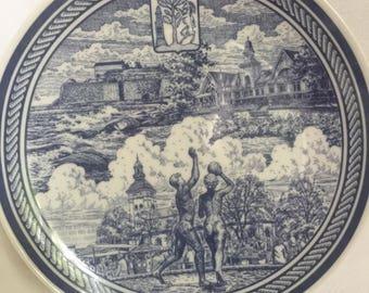 stenwreth skalderviken porcelain plate varberg