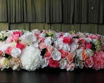 Large Wedding Centerpiece Flowers, Arrangement Centerpiece, Paper flowers, Wedding Flowers, Centerpiece, Wedding Decor Flowers