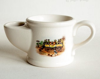 Vintage Wade Ceramic Shaving Mug with Picture of London to Bath Steam Coach
