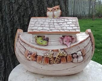 Treasure Craft Noahs Art Cookie Jar