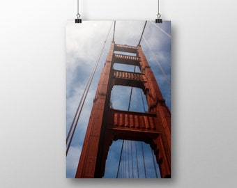 Photo of Golden Gate Bridge, Bridge Photography, San Francisco Photography, Fine Art Photo, Bridge Photo, California Photo, 4x6-24x36