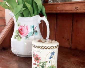 A Lovely Botanical Vintage Baret Tin