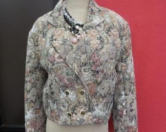 Vintage ladies short tapestry jacket