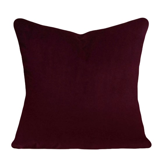 Burgundy Colored Throw Pillows : Burgundy Velvet Decorative Pillow Cover Throw Pillow Both