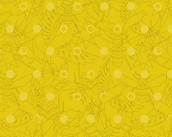 LINK Citrus Yellow Sunprint 2017 A-8484-Y Alison Glass Sold in 1/2 yd increments
