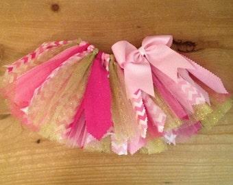 Shades of Pink and Gold Scrap Fabric Tutu