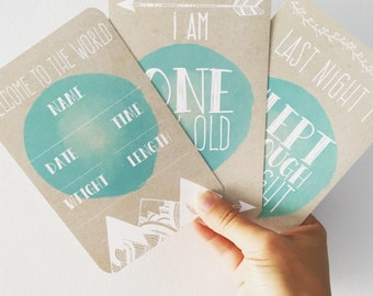 Minty Fresh ~ Baby Milestone Cards