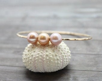 Triple Edison Pearl Bangle
