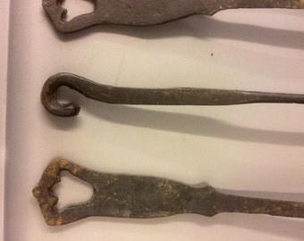 Rustic Cast Iron Utensil Set of 4
