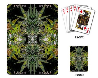 Playing Cards: Marijuana Themed Playing Cards Blueberry Marijuana Print, Cannabis Cards, Marijuana Cards - Made to Order