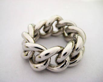 Ring model chain in silver 925
