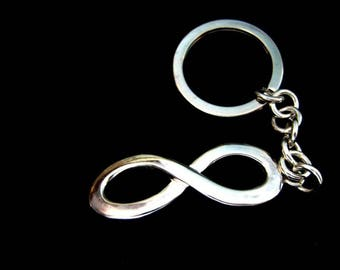 Key ring in Sterling Silver infinity