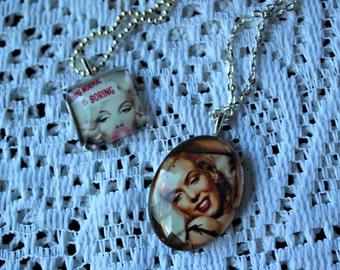 TWO Marilyn Monroe necklaces! Handmade!