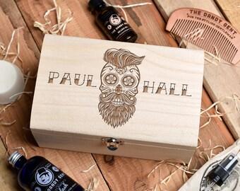Original Monkey's Personalised Beard Grooming Gift Set. Beard Oil Gift Set, Beard Fragrance, Beard Comb,Beard Soap, Beard Shampoo.