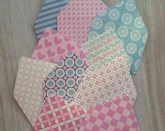 Ensemble de 10 enveloppes Mini avec cartes de correspondance, douce beauté