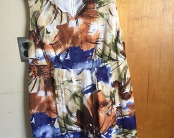 Adorable Womens Summer Dressy Dress Size 16 W.  Made By Signature.  So Soft . (Free Shipping)
