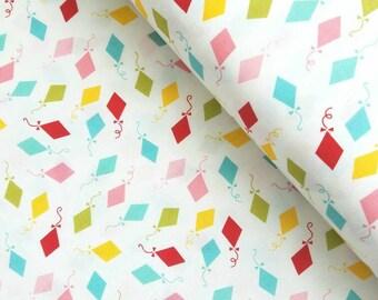 Happy Day - Happy Kites(Multi on White) - Lori Whitlock - Riley Blake Designs
