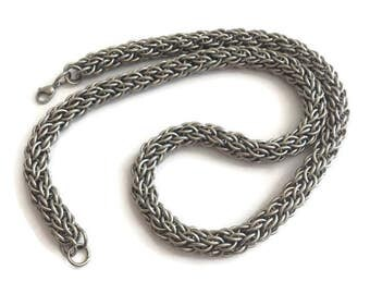 Men's Stainless Steel Necklace Chain - Men's Necklace - Men's Chainmaille Neck Chain