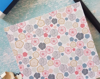 Bright Floral Patterned Memo Pad