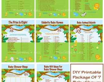 Safari Baby Shower Game, Printable Safari Baby Game, Jungle Baby Game, Animal Baby Game, Safari Game, Jungle Game - Printables 4 Less 0074