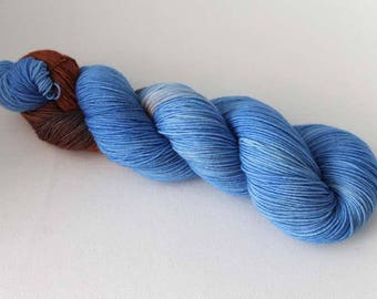 Trio Ice, Hand dyed Merino Sock 75/25 sw merino/nylon