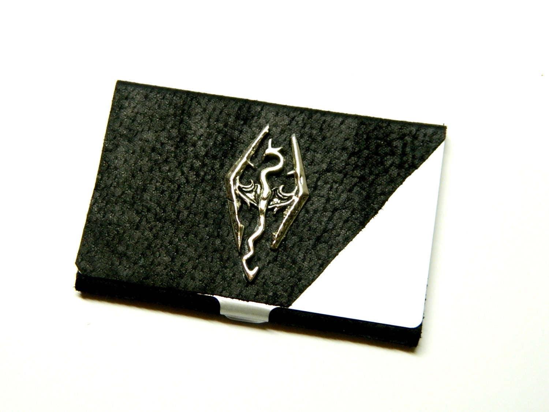 Skyrim business card case steampunk wallet holder credit for Steampunk business card holder