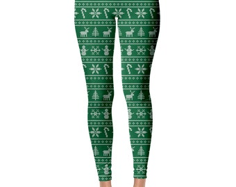 Christmas Leggings,  Ugly Christmas Sweater, Funny Christmas Sweater, Tacky Christmas Sweater, Christmas Party