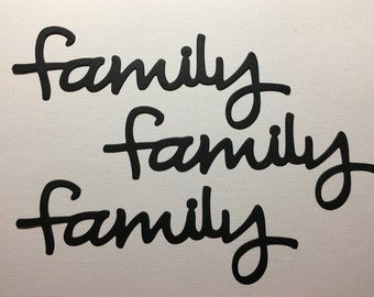Family Diecuts - Set of 3