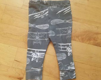 Airplane leggings, baby boy airplane leggings, toddler airplane leggings, airplane pants, airplane baby clothes, baby boy clothes