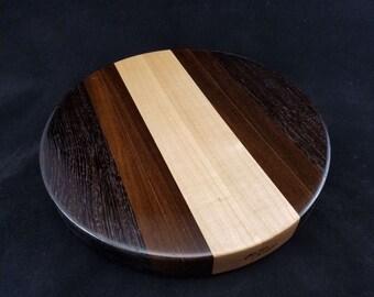 "Exctic Wood Round Chopping Block  (11.5"" Round x 1.5"" Thick)"