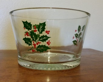 Vintage Holly Serving Bowl