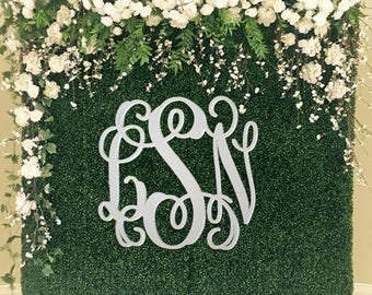 Backdrop Sign - Large Wooden Monogram - Wedding Guest Book Sign - Painted Wooden Monogram - Birthday Party Sign - Nursery Decor - Dorm Room