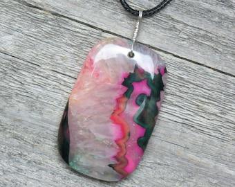 Onyx Druzy Healing Stone Necklace!