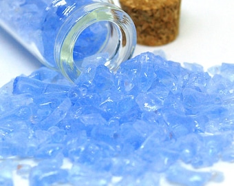 30g - Scrap Glass for crafts- Ice Blue